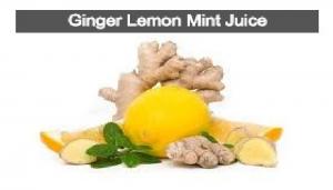 Ginger, Lemon Mint Juice